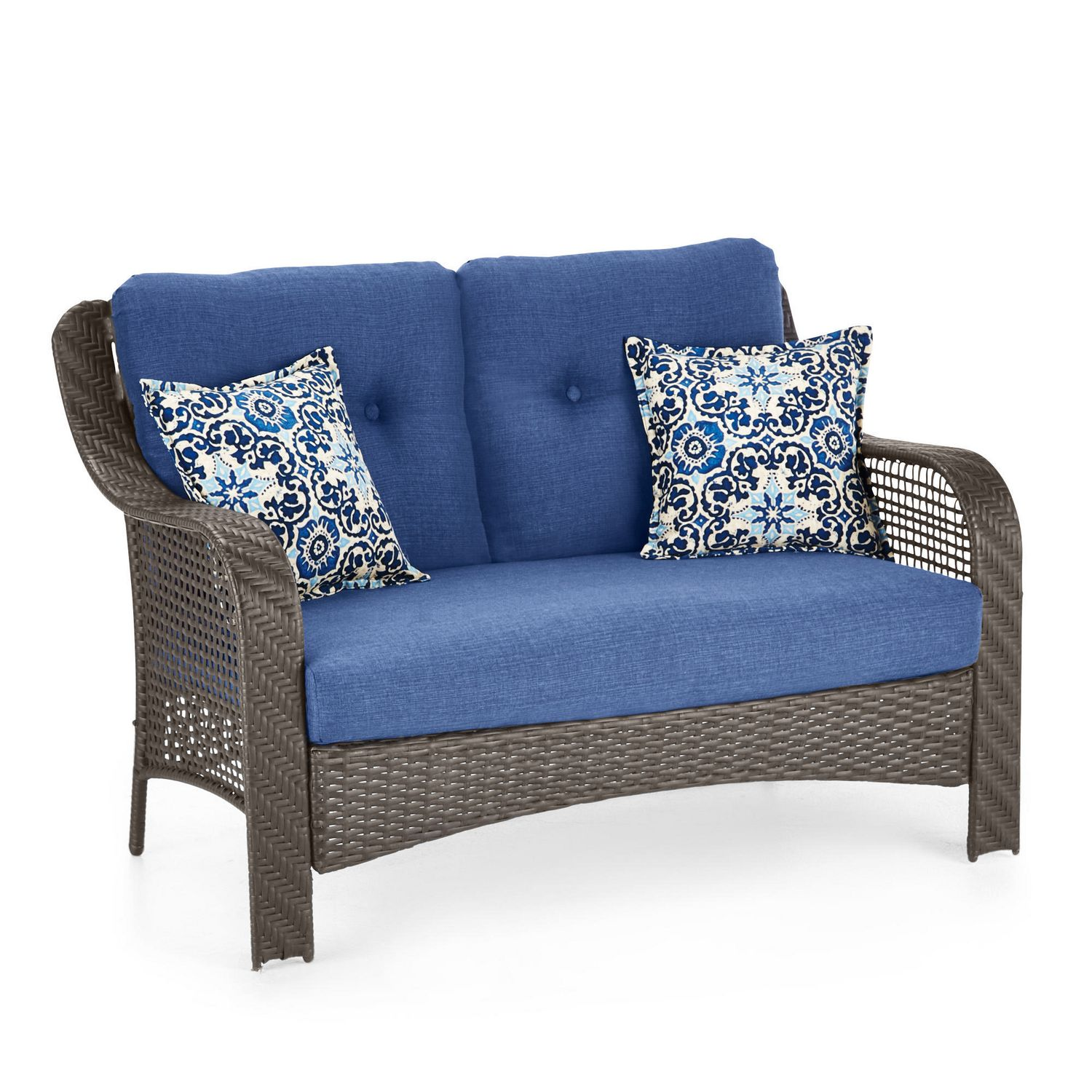 loveseat table with itm twin adjoining vonhaus and bench outdoor sentinel jill textoline furniture patio garden jack duo companion grey seat