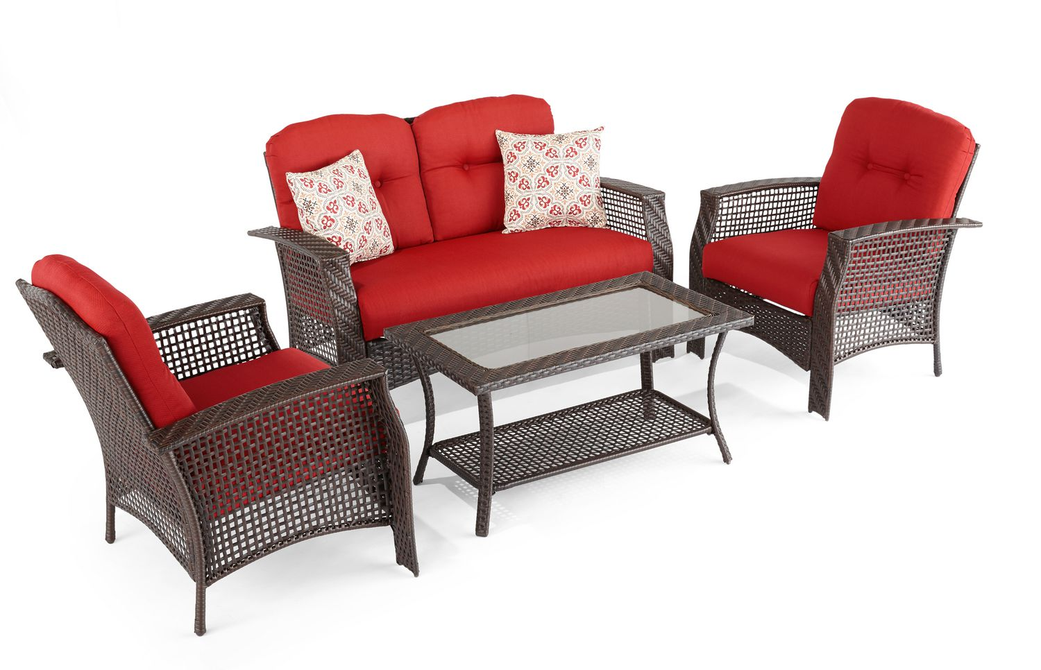 Hometrends Tuscany Conversation Set Walmart 28 Images Hometrends Tuscany 4 Sectional Set