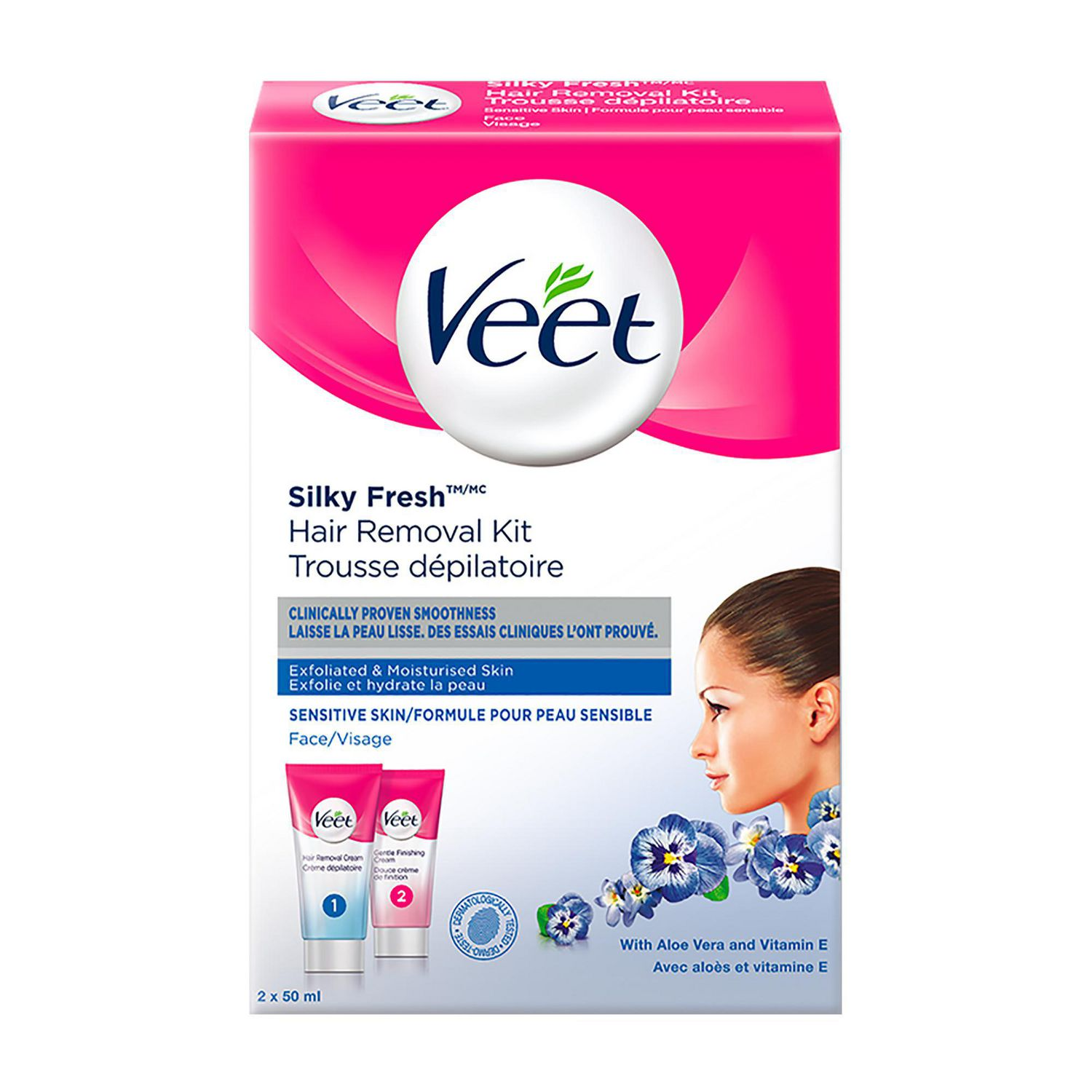 Veet® Silky Fresh ™ Face Hair Removal Kit Sensitive Skin, 2 x 50 mL |  Walmart Canada