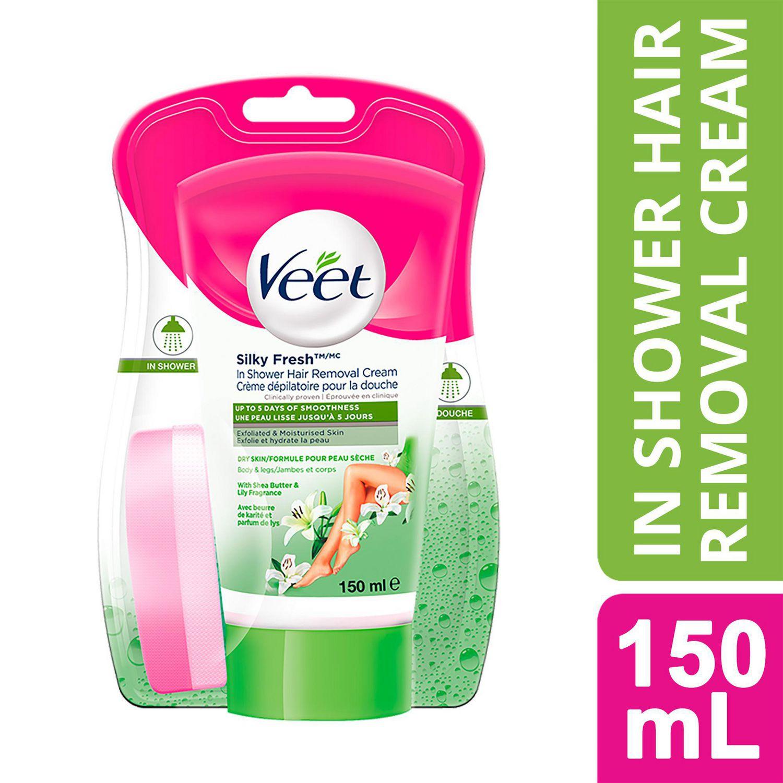 Veet Silky Fresh In Shower Hair Removal Cream Body Legs Dry
