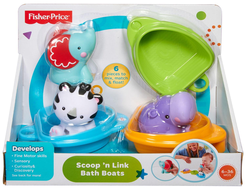 Fisher-Price Scoop \'n Link Bath Boats Toy | Walmart Canada