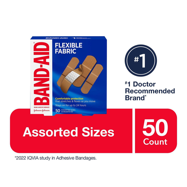 band aid flexible fabric adhesive bandages family pack walmart