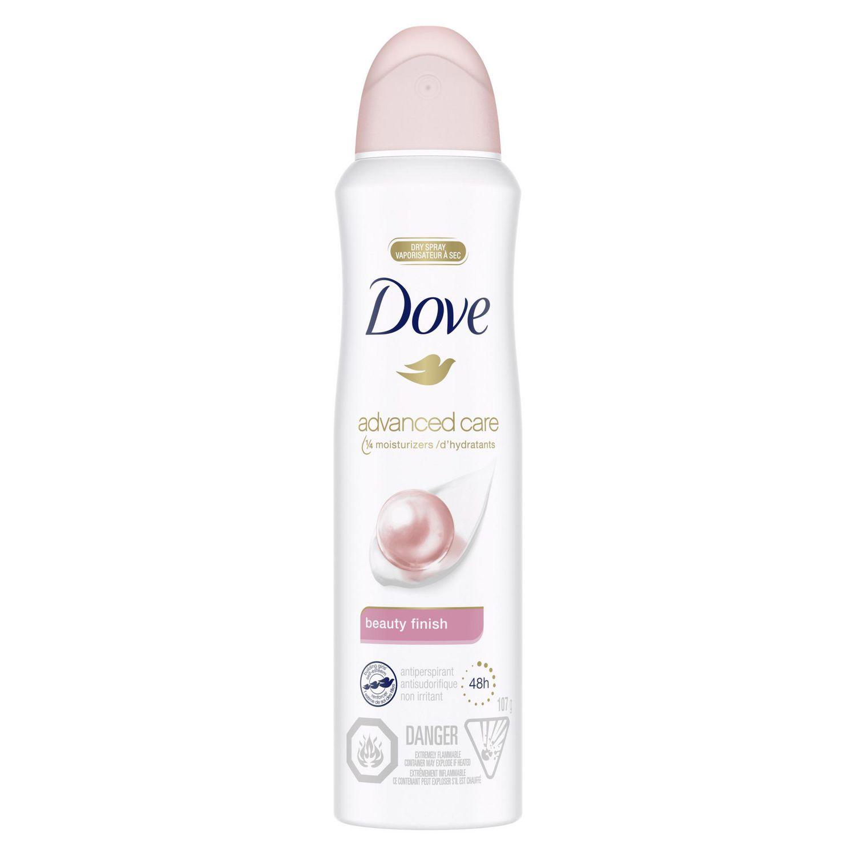 Dove Beauty Finish Spray: Dove® Unisex Beauty Finish Dry Spray Antiperspirant