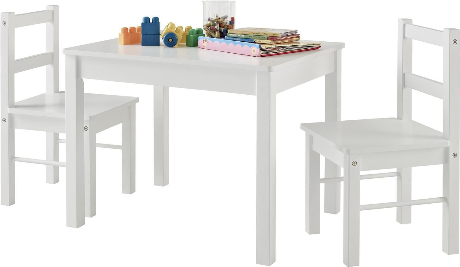 55e02fac34d Dorel 3 Piece Kid s Wood Table And Chair Set