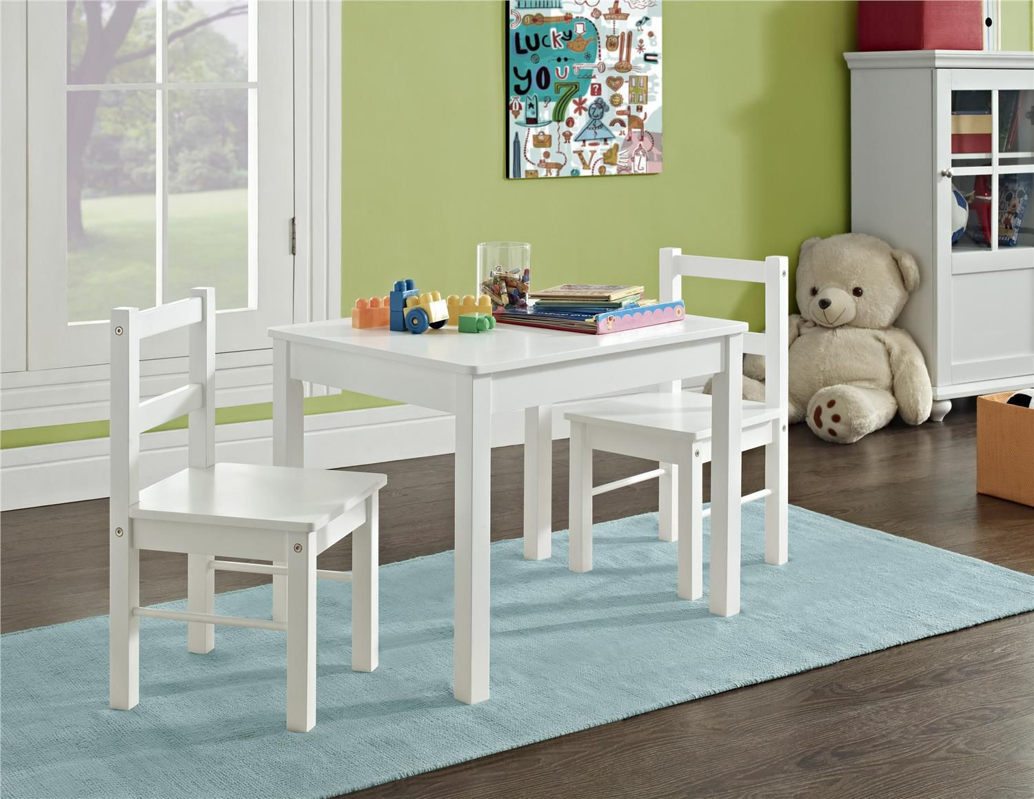 Dorel 3 Piece Kid S Wood Table And Chair Set Walmart Canada