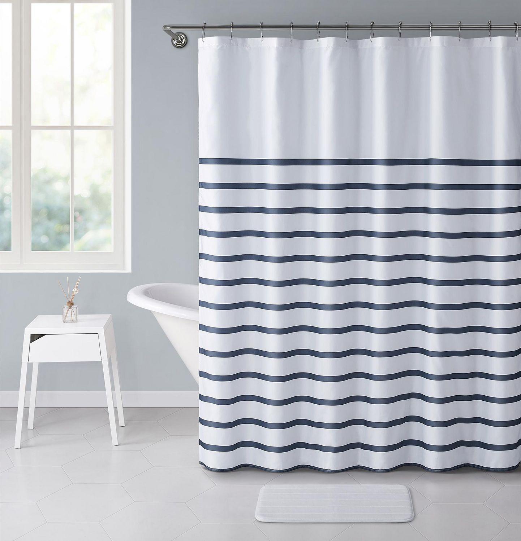 Home Trends Navy Stripe 14 Piece Bath Set Walmart Canada