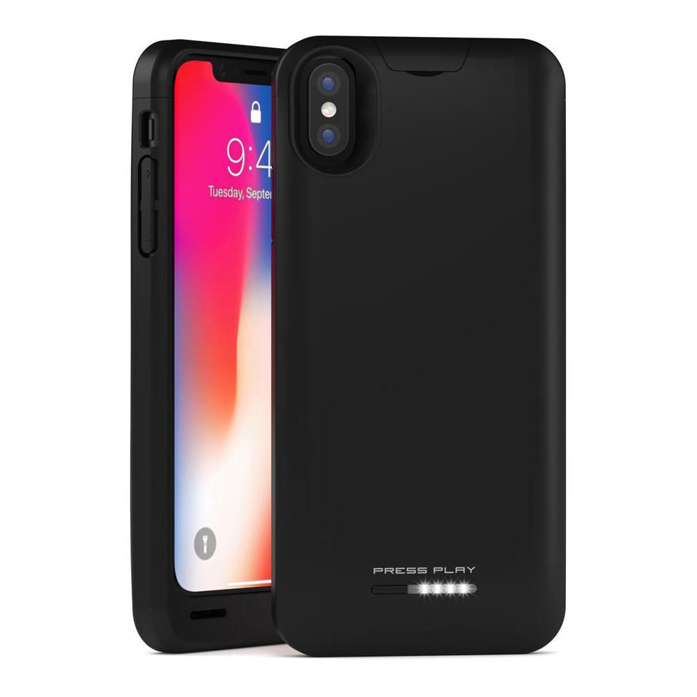 91958c07fbc0 Press Play iPhone X Battery Case Nero iPhone 10 Portable Charger Slim Charging  Case 3100mAh Extended zoomed image