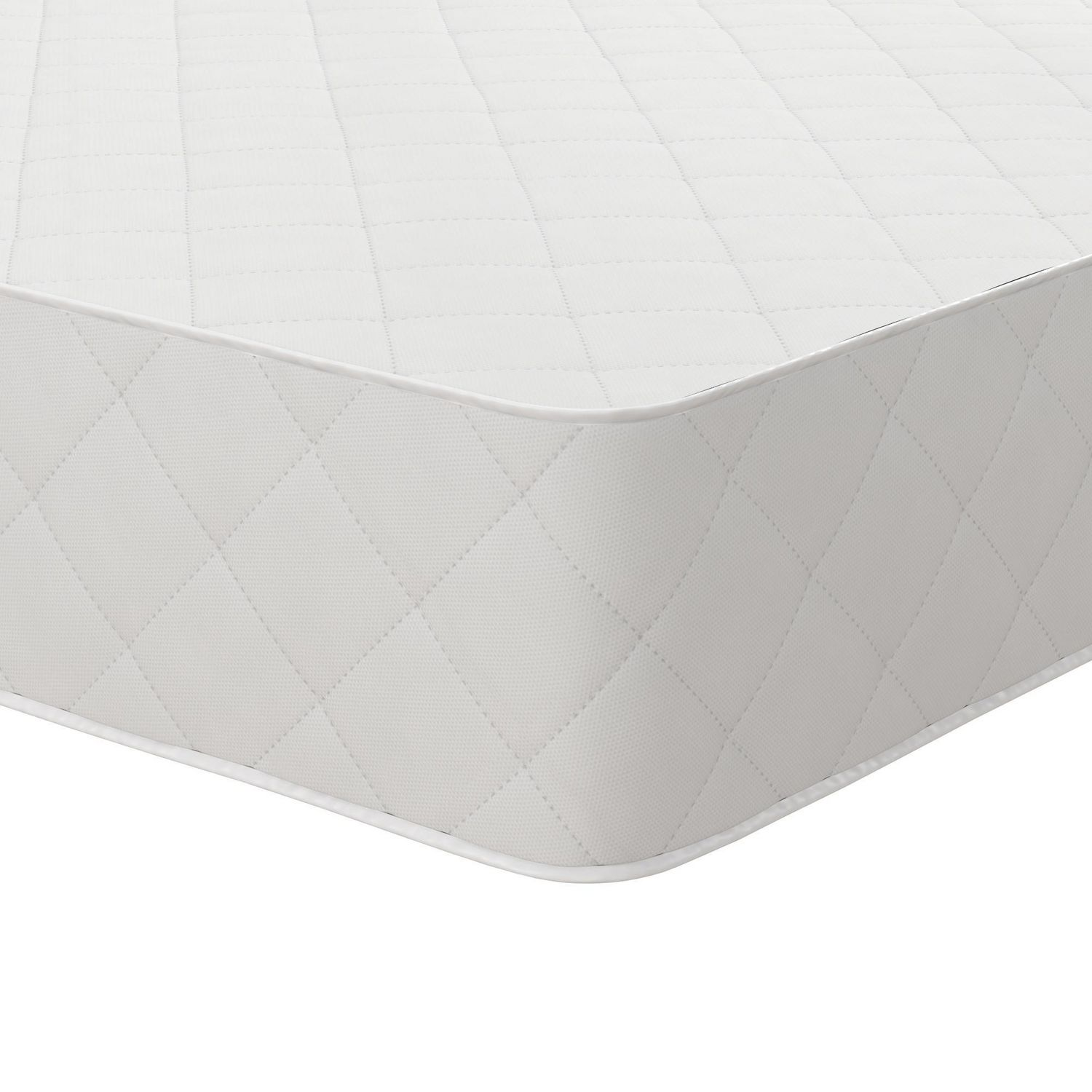 Best Greenguard Mattress - Alternate Pick - Close up of corner of Safety 1st Grow With Me 2-in-1 baby crib mattress