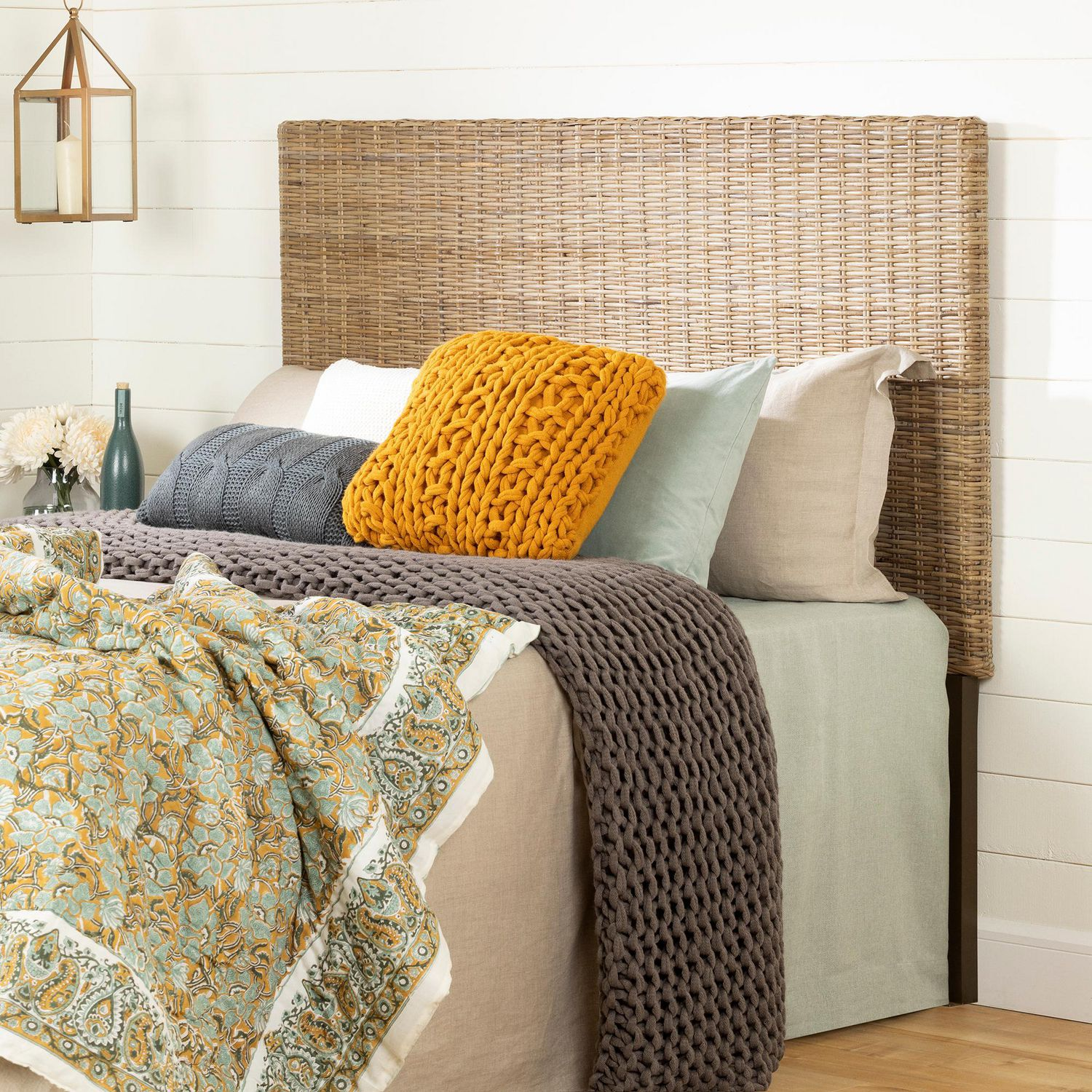 South Shore Lilak Headboard Queen Rattan Walmart Canada