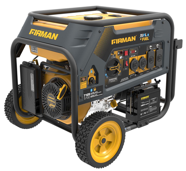 Firman 5700W Dual Fuel Generator