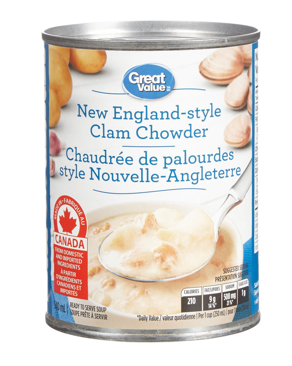 Great Value Clam Chowder Soup