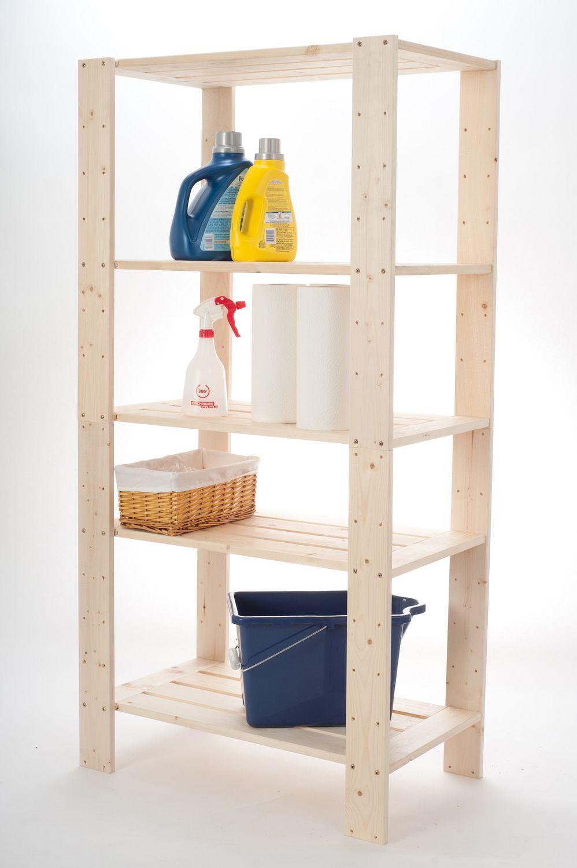 Walmart Furniture Online: Shelve It 5 Shelf Wood Shelf