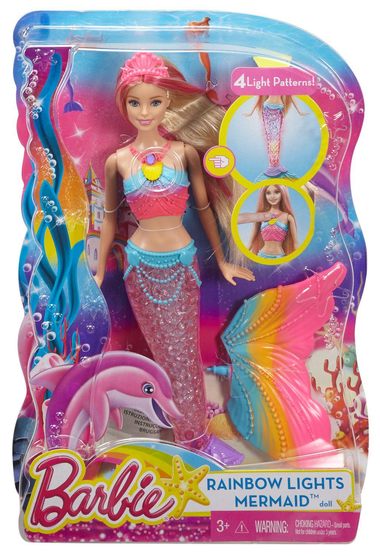 Uncategorized Barbie The Mermaid barbie rainbow lights mermaid doll walmart canada