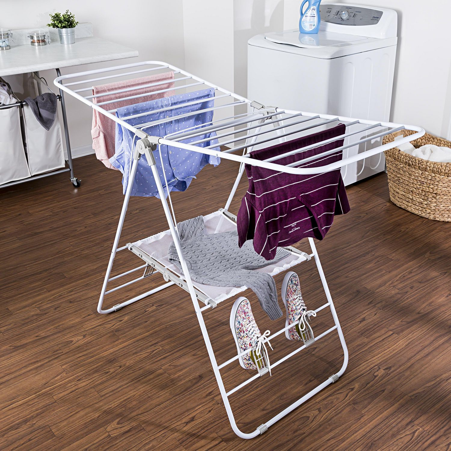 assembling gullwing products foldable no clothes elixir drying deco rack duty heavy
