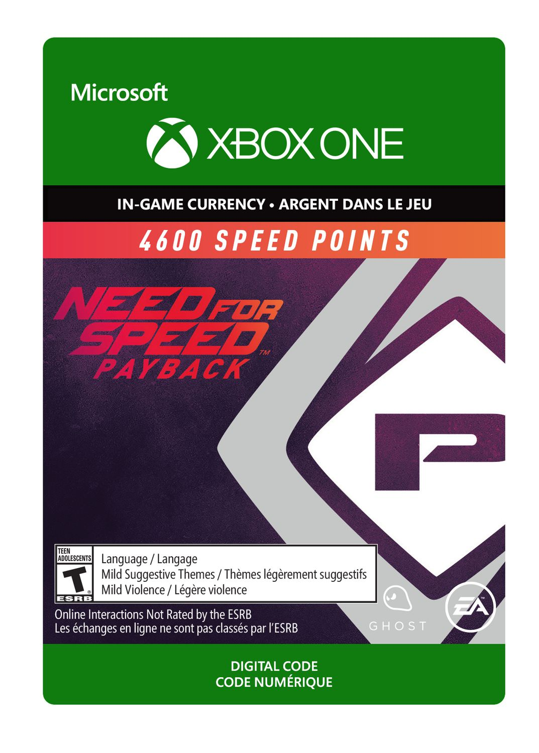 Electronic Arts Xbox One Need For Speed 4600 Points Digital  Download Walmart Canada