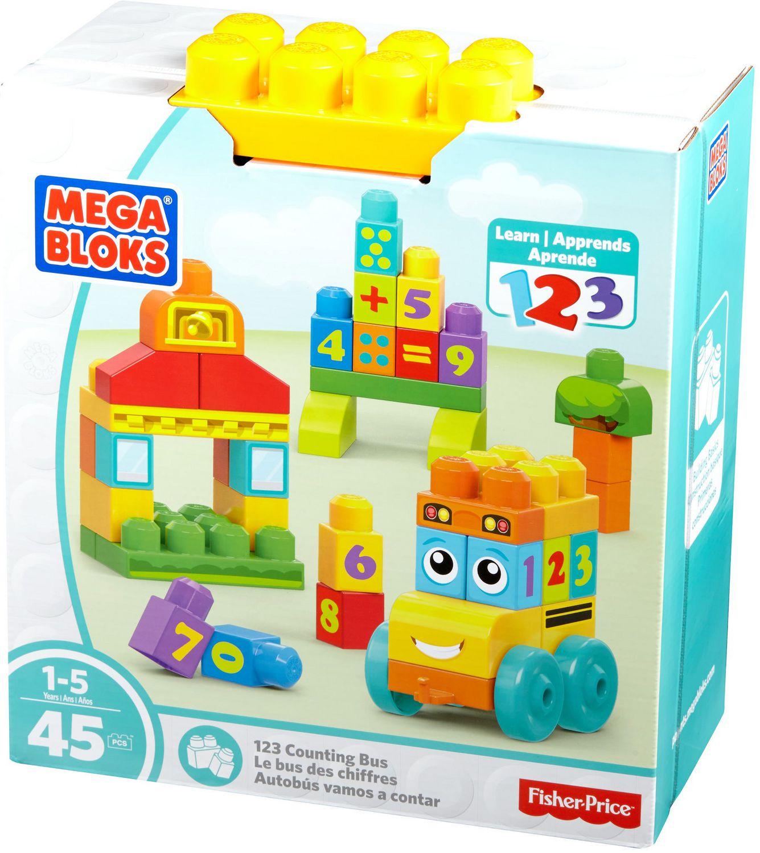 Mega Bloks 123 Counting Bus Building Blocks Set