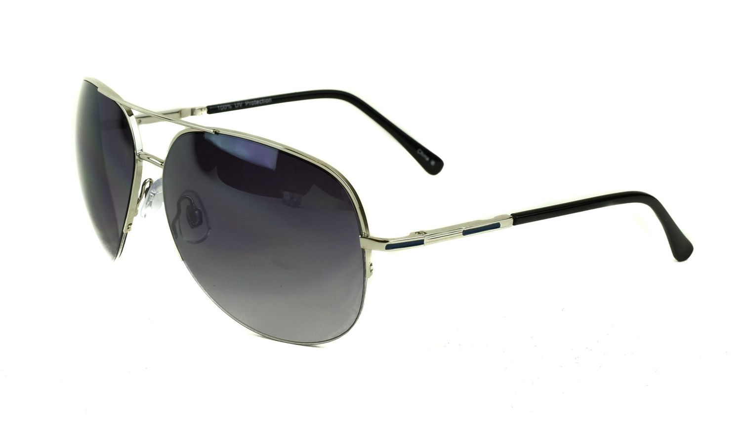 338632a2ea George Women s Silver Aviator Sunglasses - image 1 of 3 zoomed image
