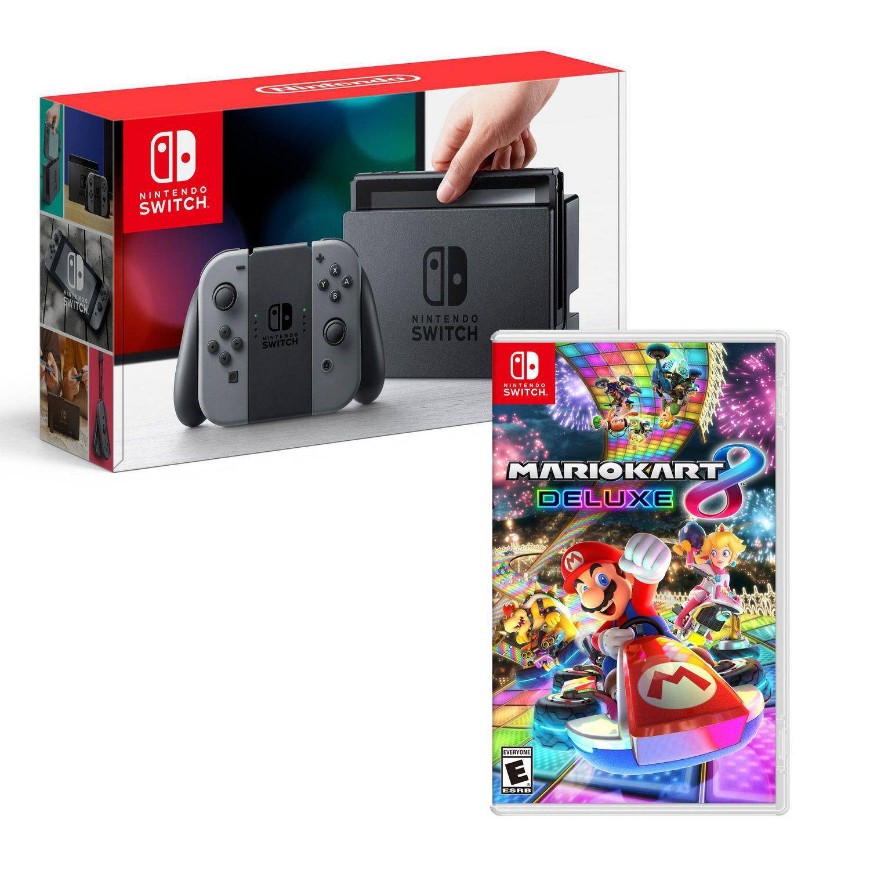 Nintendo Switch Mario Kart 8 Deluxe Bundle Grey Joy Con