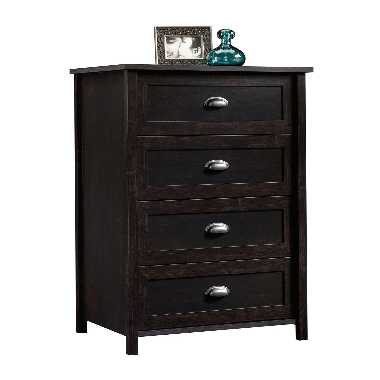 Sauder 4 drawer chest estate black finish 415844 walmart canada