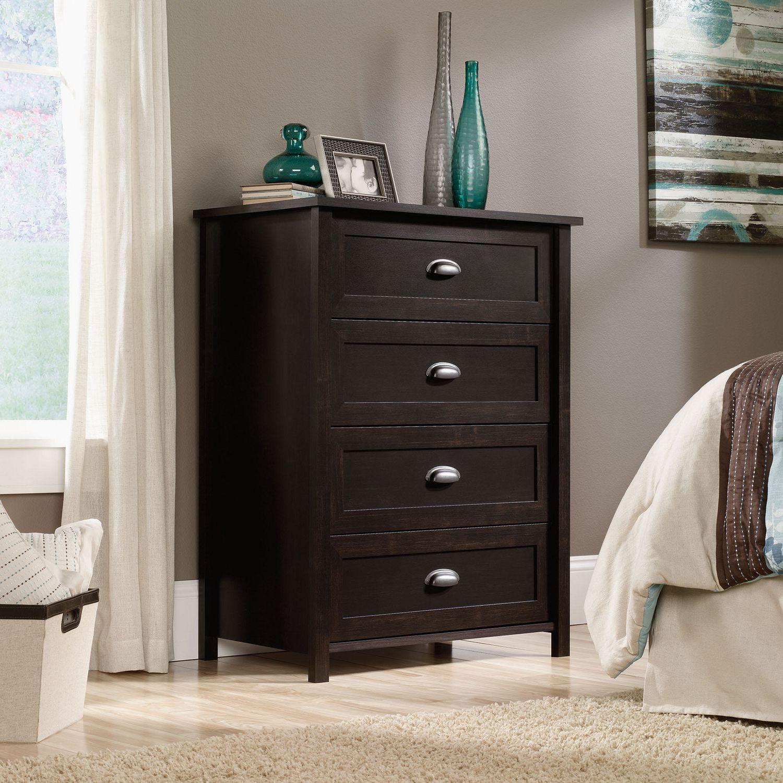 Sauder Bedroom Furniture Sauder 4 Drawer Chest Estate Black Finish 415844 Walmartca