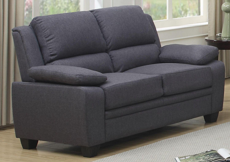Tremendous Topline Home Furnishings Grey Linen Loveseat Lamtechconsult Wood Chair Design Ideas Lamtechconsultcom