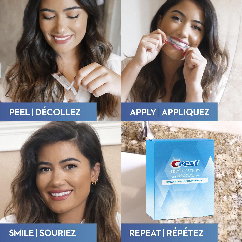 Crest 3D White Whitestrips Noticeably White Teeth Whitening Kit