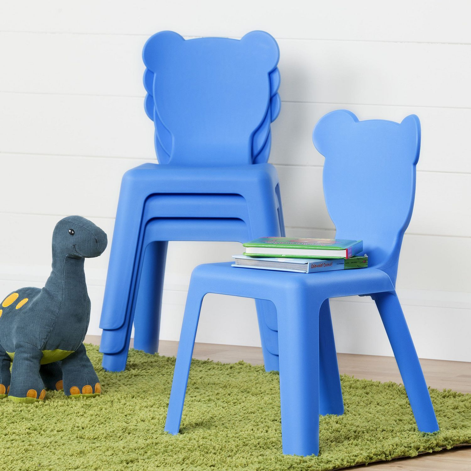 South Shore Crea Kids Plastic Stacking Chairs 4 Pack