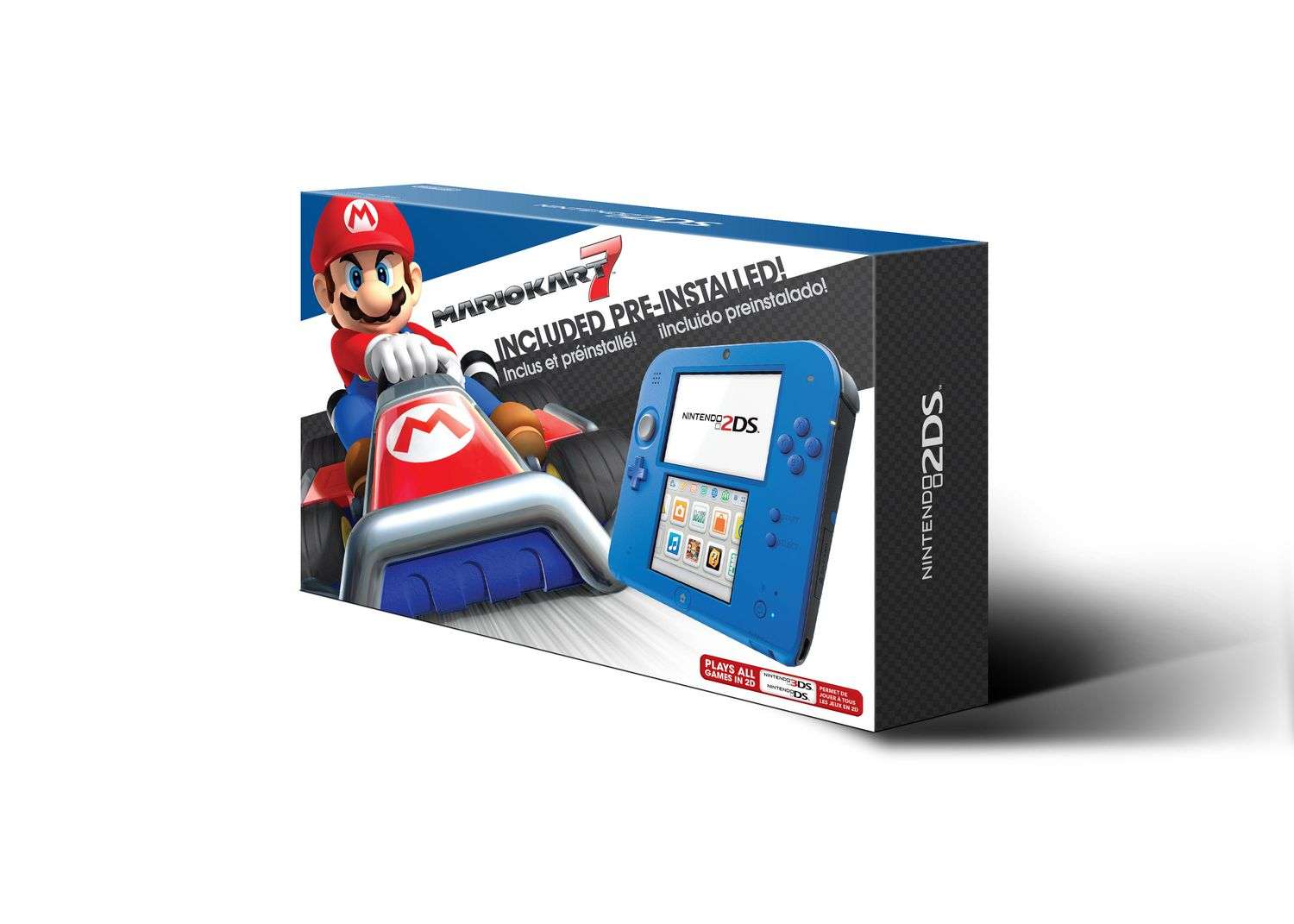 Game boy color quanto vale - Nintendo 2ds Electric Blue 2 With Mario Kart 7 Game Pre Installed