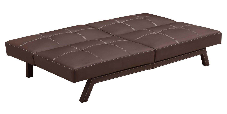 dhp delaney futon brown  walmartca -