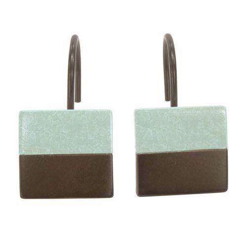 Set Of 12 Shower Curtain Hooks Crackle B