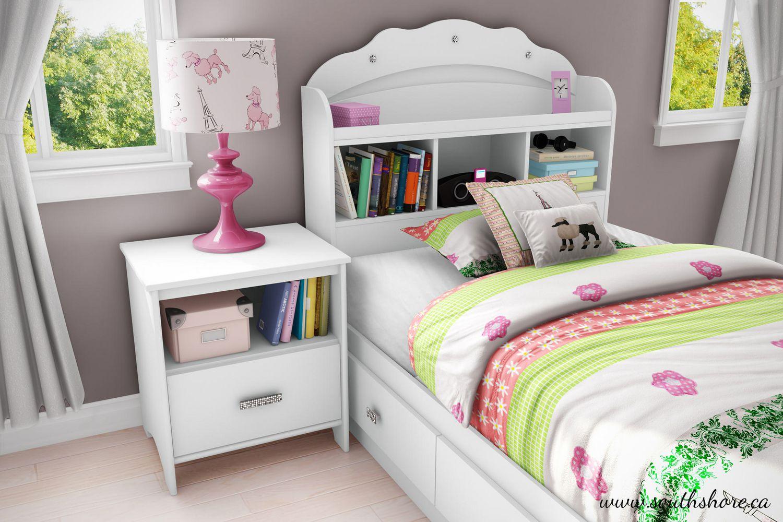 South Shore Tiara Collection Twin Mates Pure White Bed Walmartca