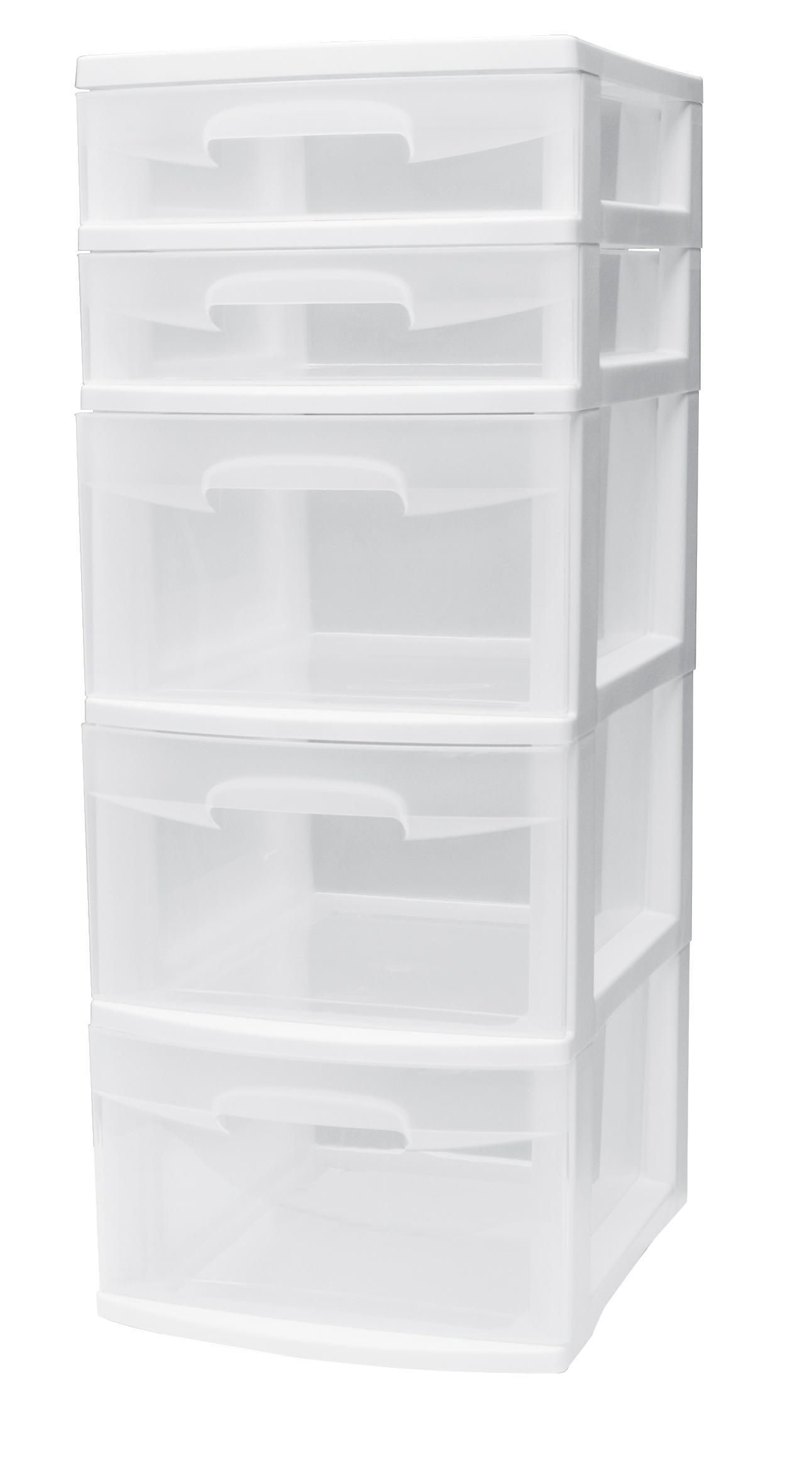 Sterilite 5 Drawer White Tower