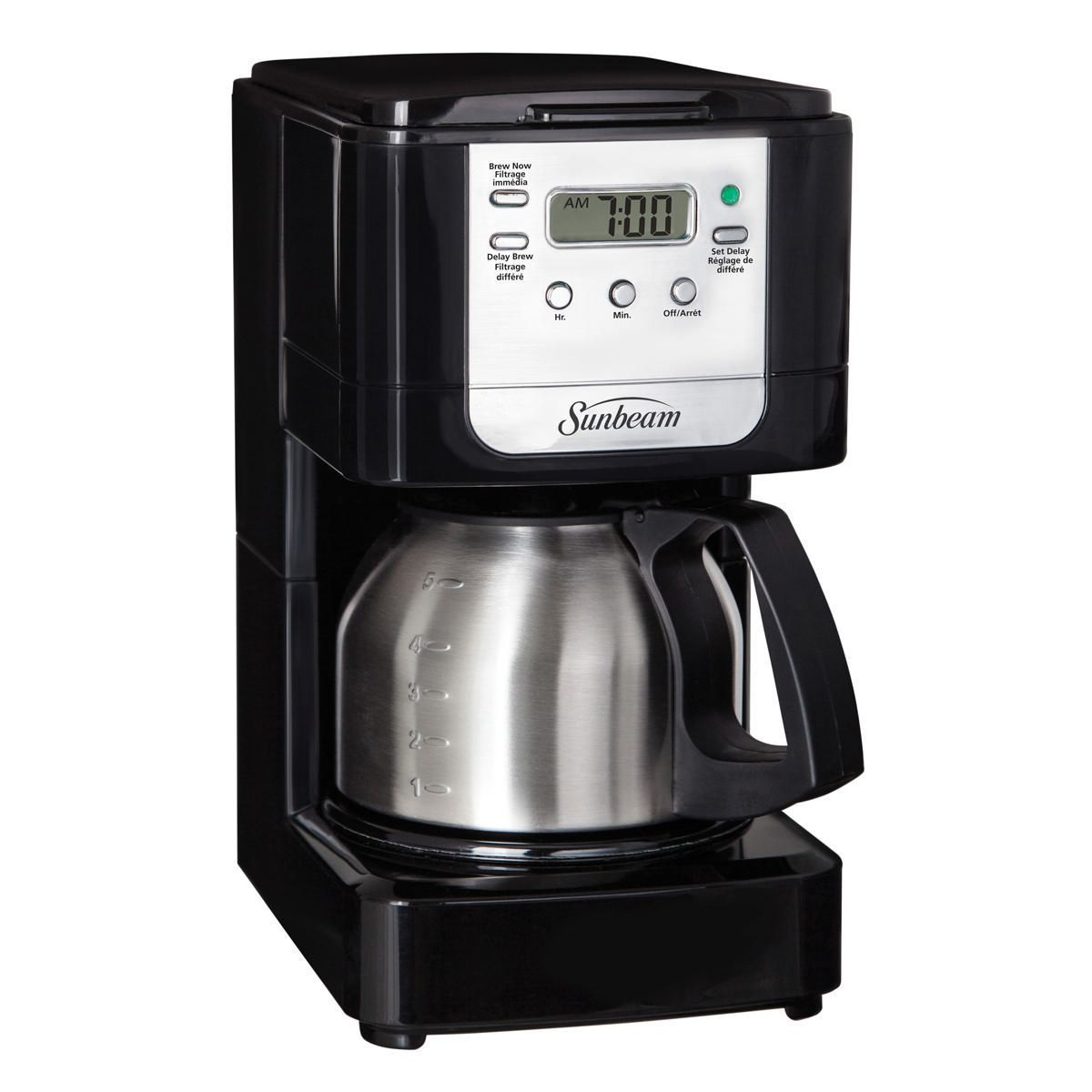 Sunbeam 5 Cup Programmable Coffeemaker With Stainless Steel Carafe