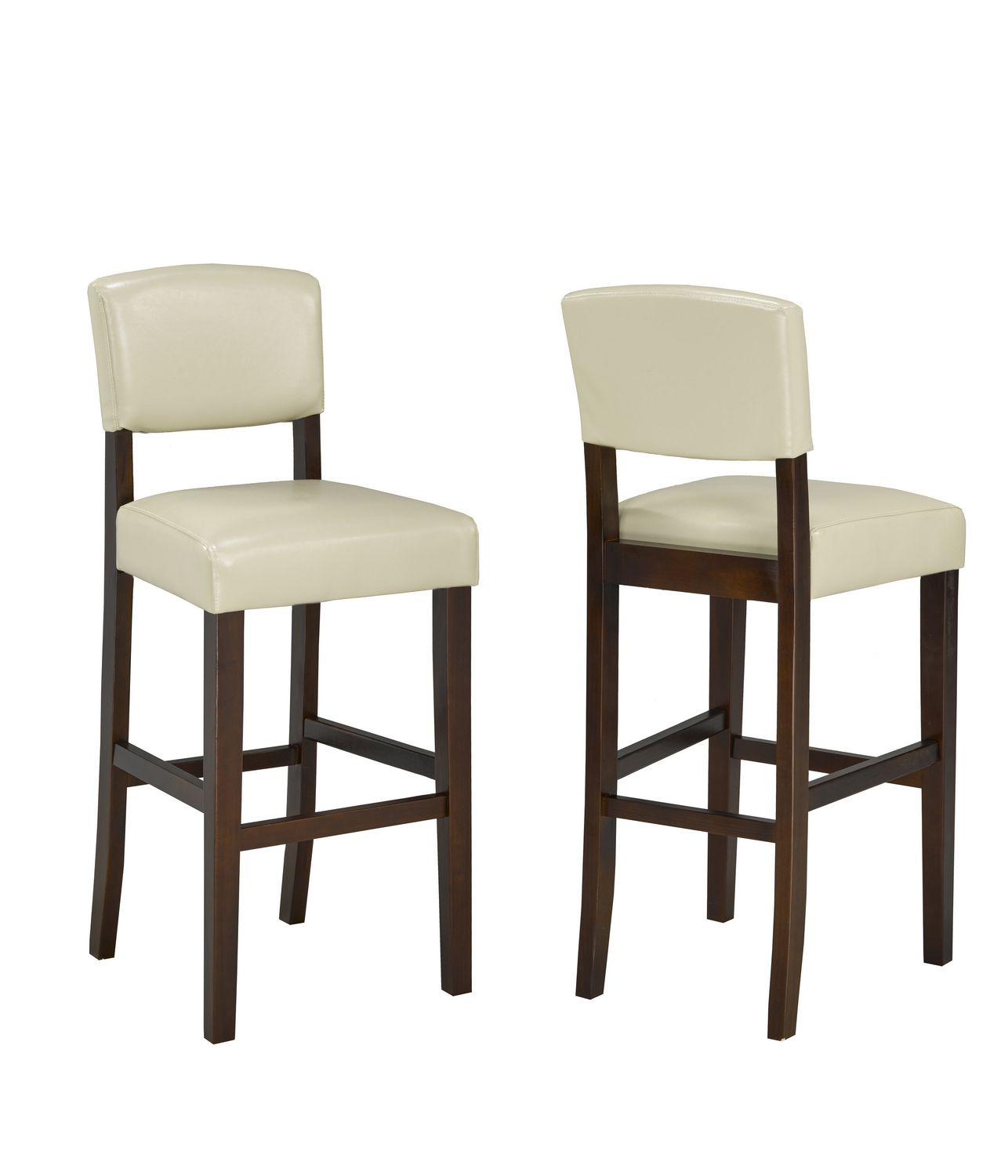 Bras 29 Bar Stools Set of 2 Cream