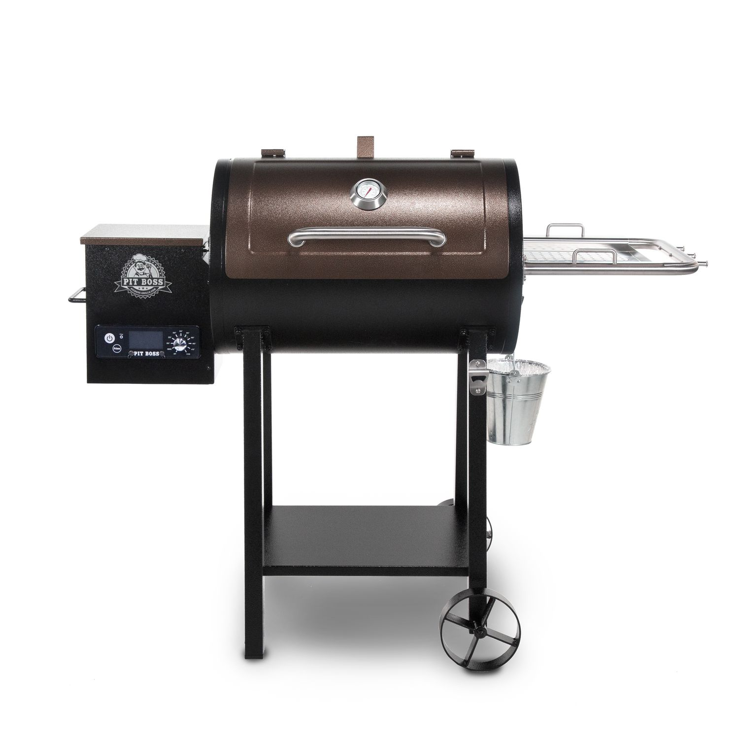 Pit Boss 440D2 Deluxe Wood Fired Pellet Grill with Flame ...