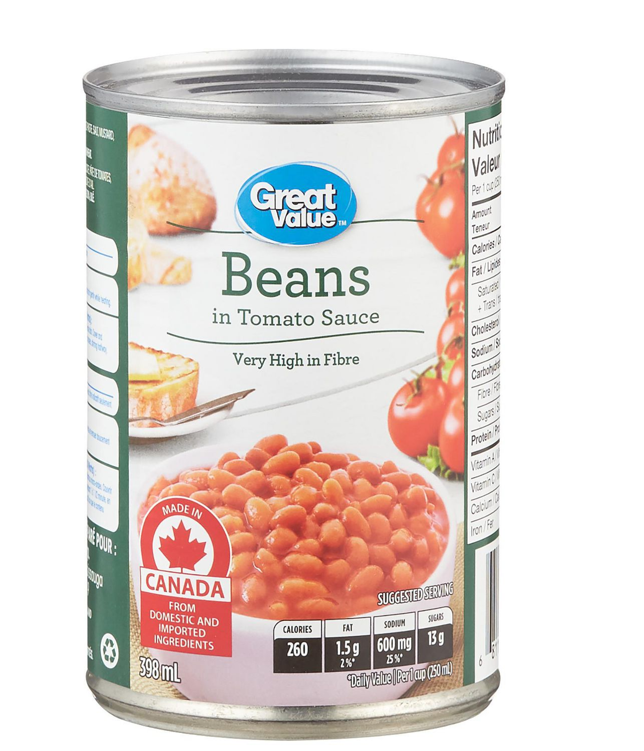 Great Value Baked Beans In Tomato Sauce Walmart Canada