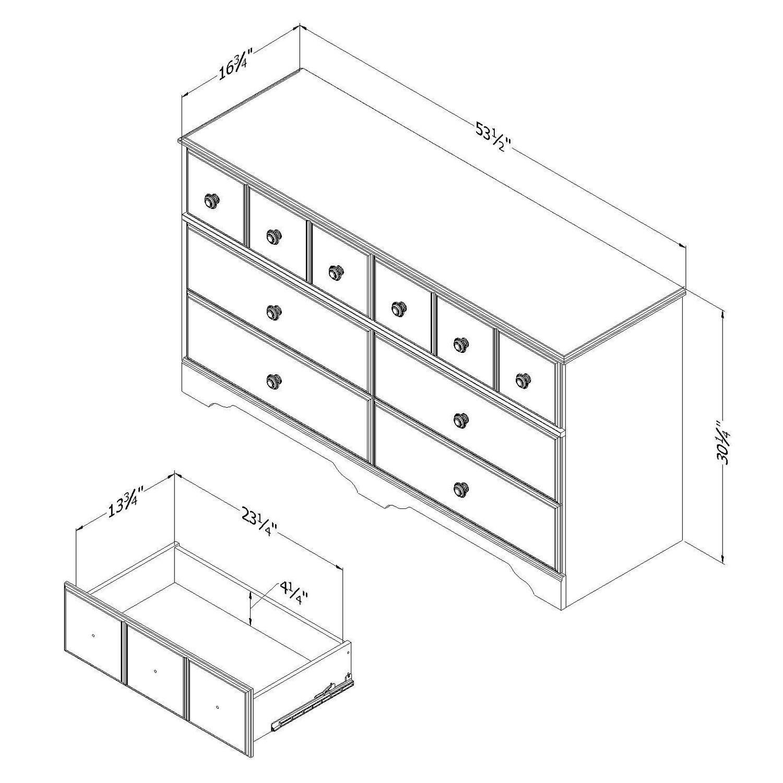 South Shore Little Treasures 6 Drawer Double Dresser Walmart Canada P 51 Engine Diagram