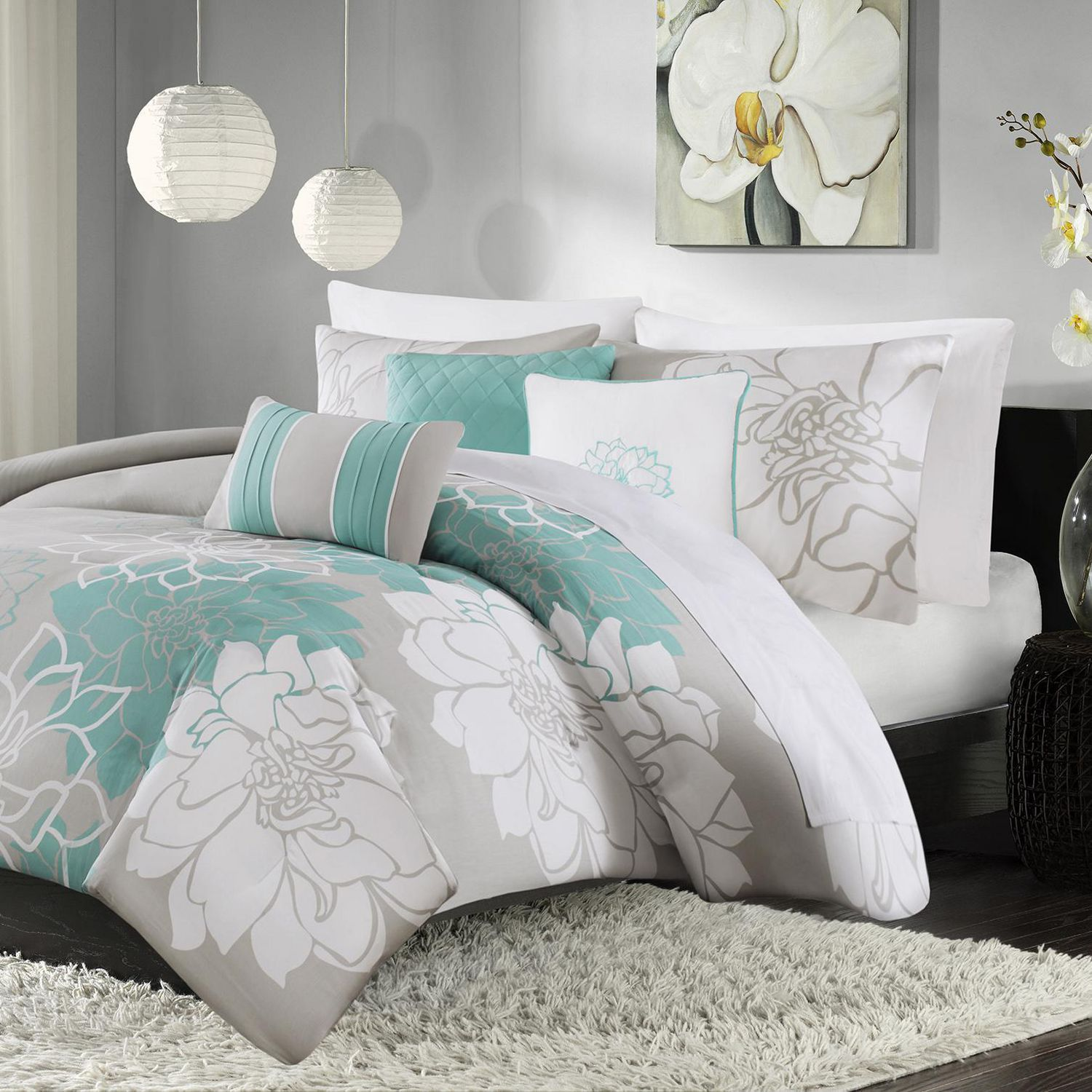Home Essence Jane Cotton Sateen 6pc Duvet Cover Set Walmart Canada