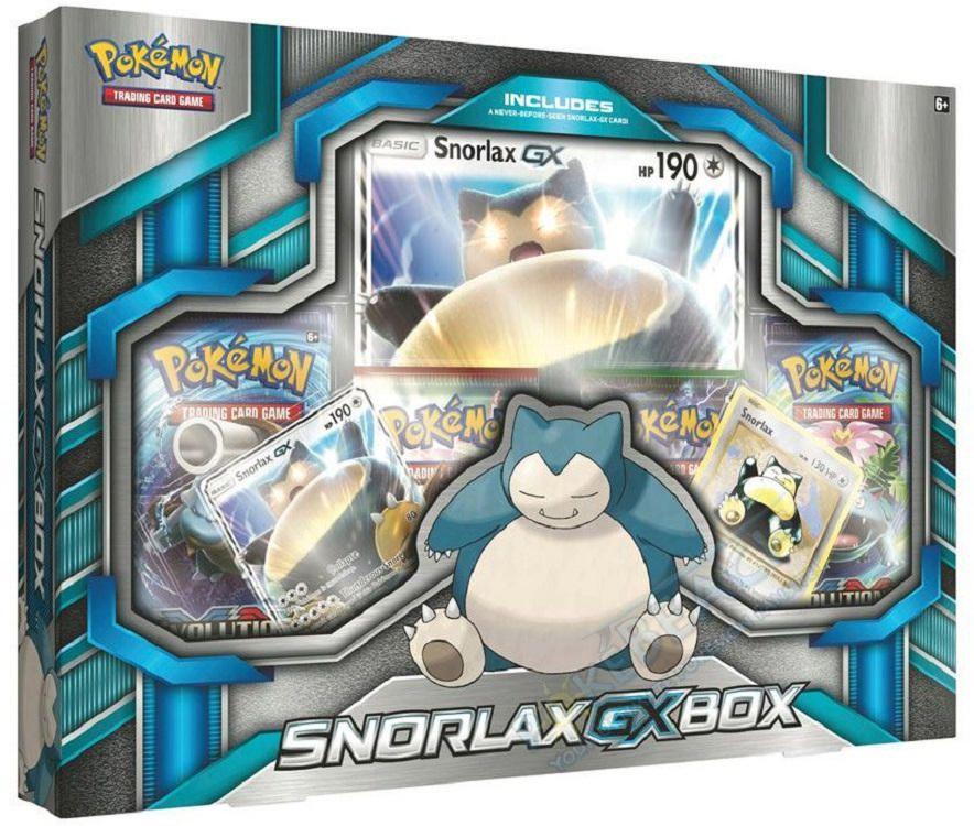 Pokemon 2016 Snorlax Gx Box Trading Card Game 4 Packs English