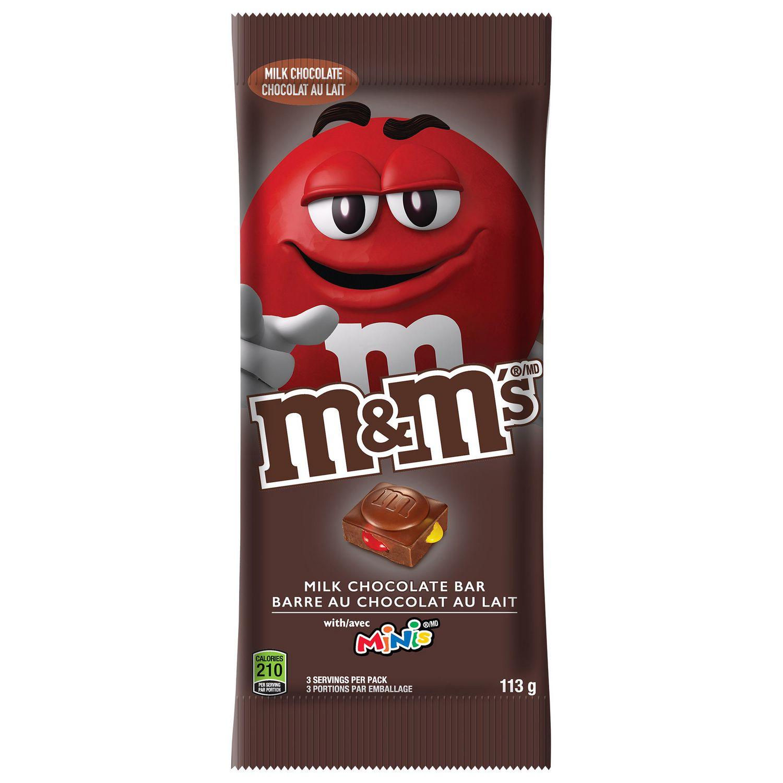 M M S M M S Minis And Milk Chocolate Milk Chocolate Bar 113g Walmart Canada