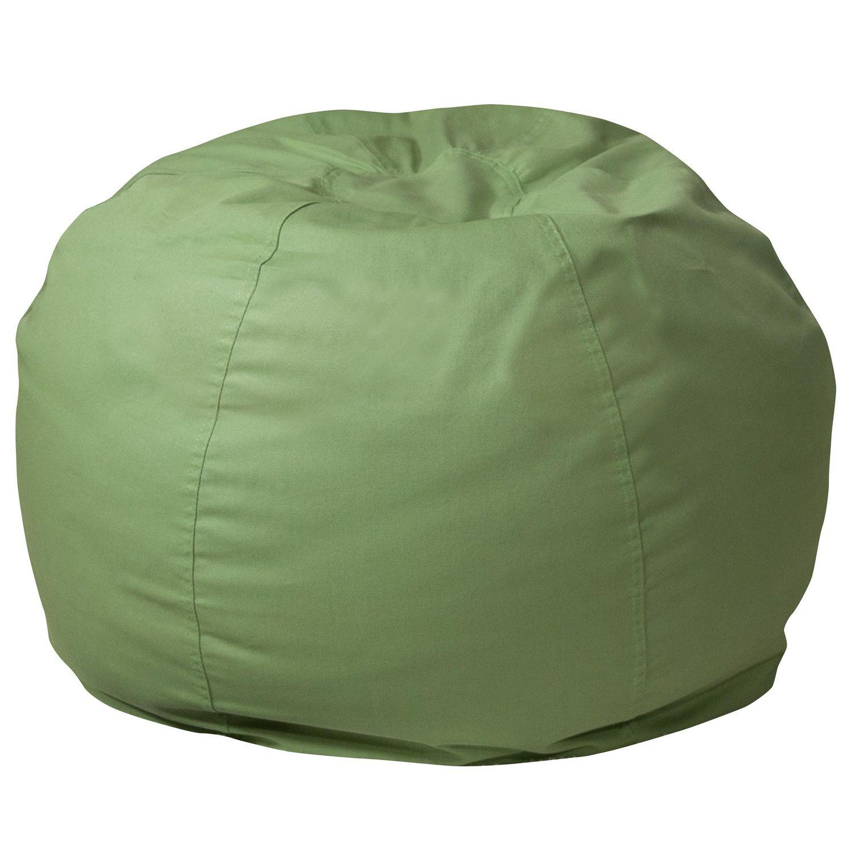 Small Solid Green Kids Bean Bag Chair | Walmart Canada