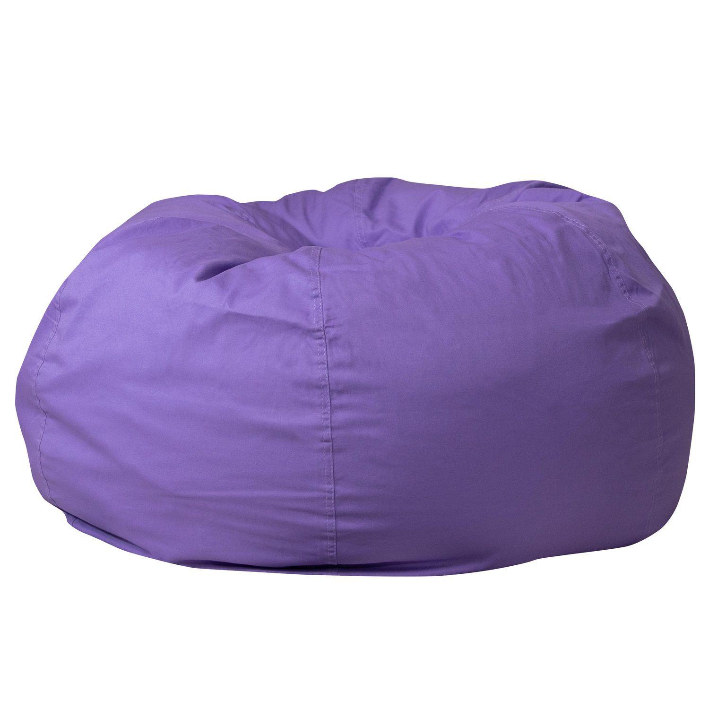 Oversized Solid Purple Bean Bag Chair | Walmart Canada