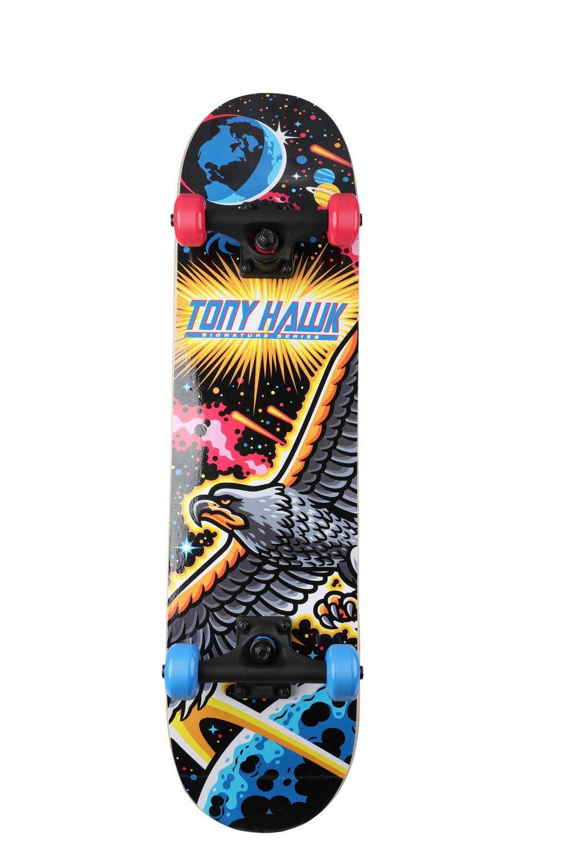 """Tony Hawk 31"""" Popsicle Space Hawk Skateboard with Pro ..."""
