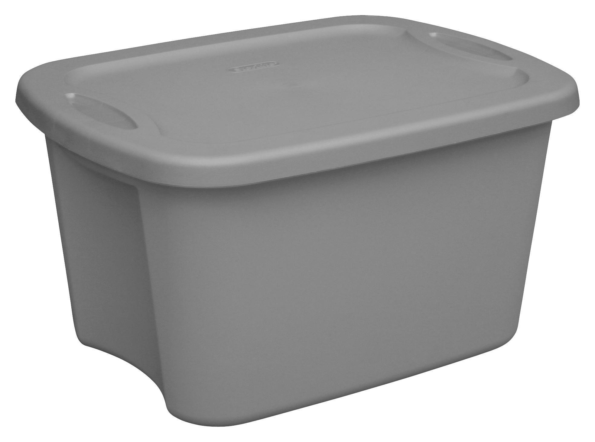 sterilite 19 liter gray tote box - Wreath Storage Box
