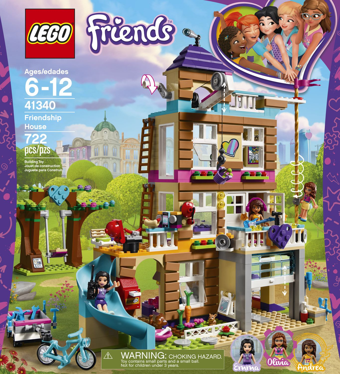 41340 Friends Heartlake Friendship House Building Set Olivia Emma,Mini-Figures