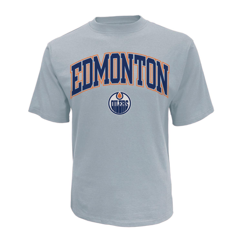 quality design d4a8c d7b9e NHL Men's Edmonton Oilers Crew Neck short Sleeve Classic Fit T-Shirt