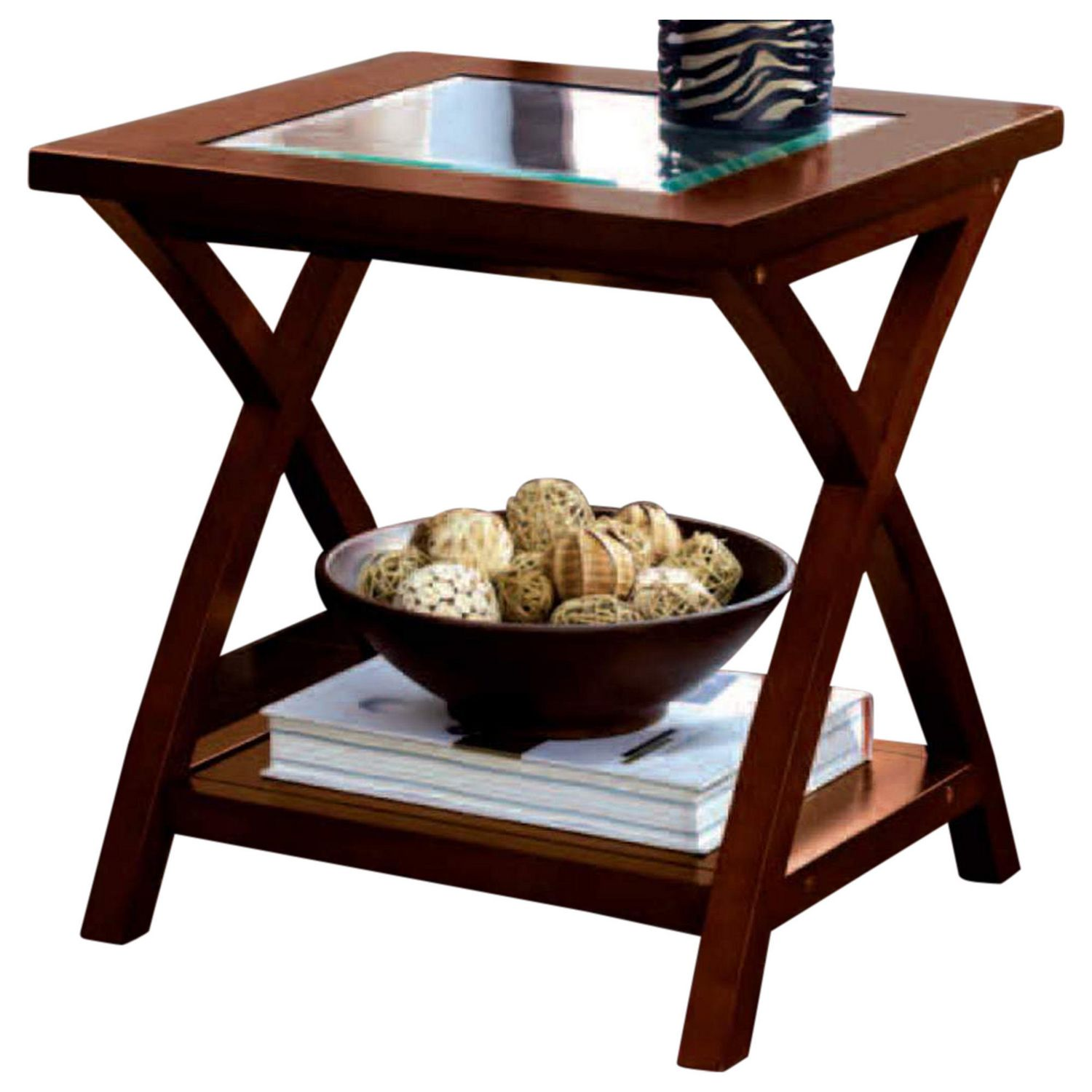 - HomeTrends Glass Top End Table Walmart Canada