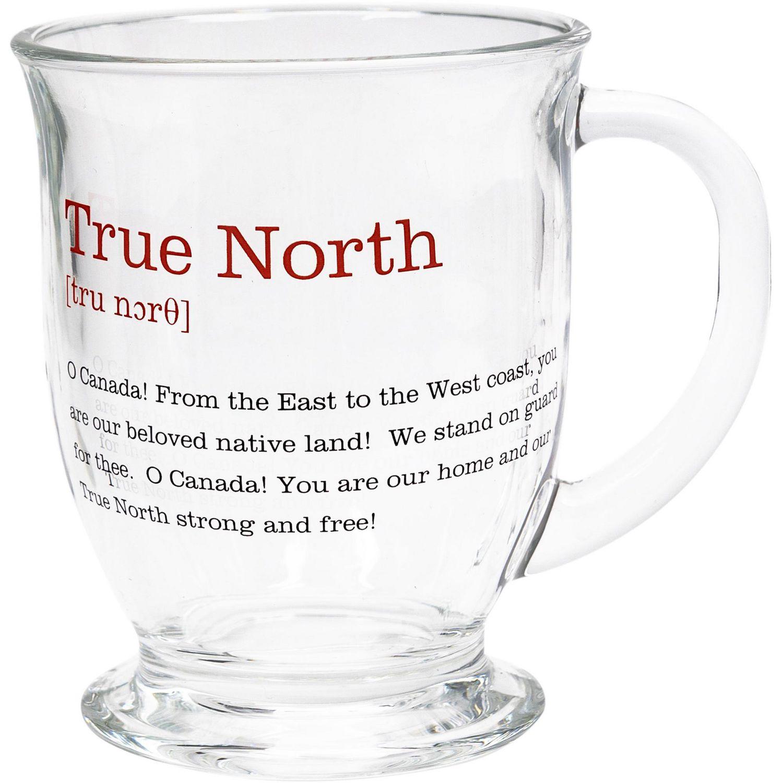 "Canadiana Glass Latte Mug - ""True North"" | Walmart Canada"