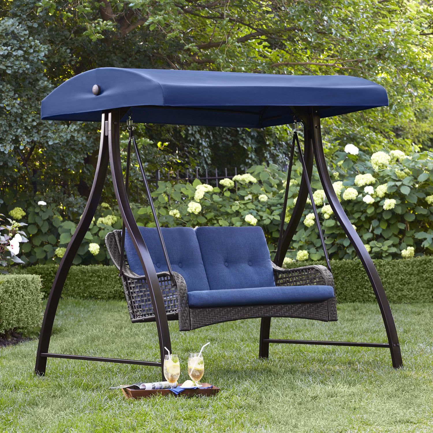 Outdoor Patio Furniture Kitchener: Hometrends Tuscany 2-Person Swing
