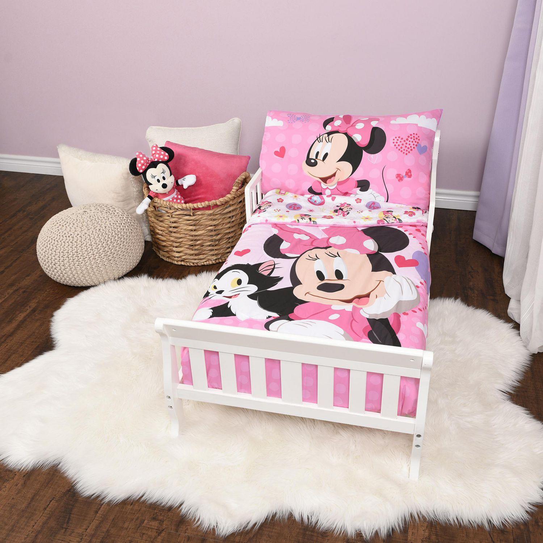 disney minnie mouse 3piece toddler bedding set  walmart